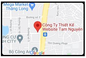 Bản đồ đường đi tới Công ty thiết kế website Tam Nguyên