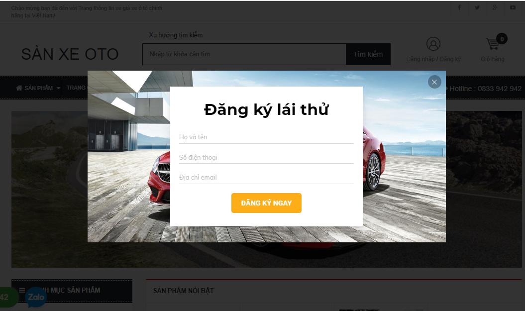 Các chức năng cần thiết của một website kinh doanh ô tô