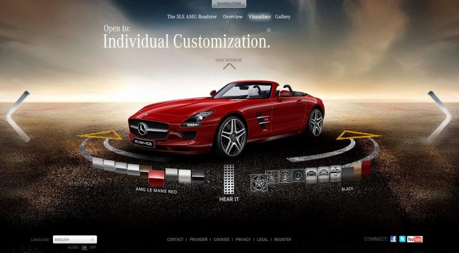 Mẫu website bán xe oto